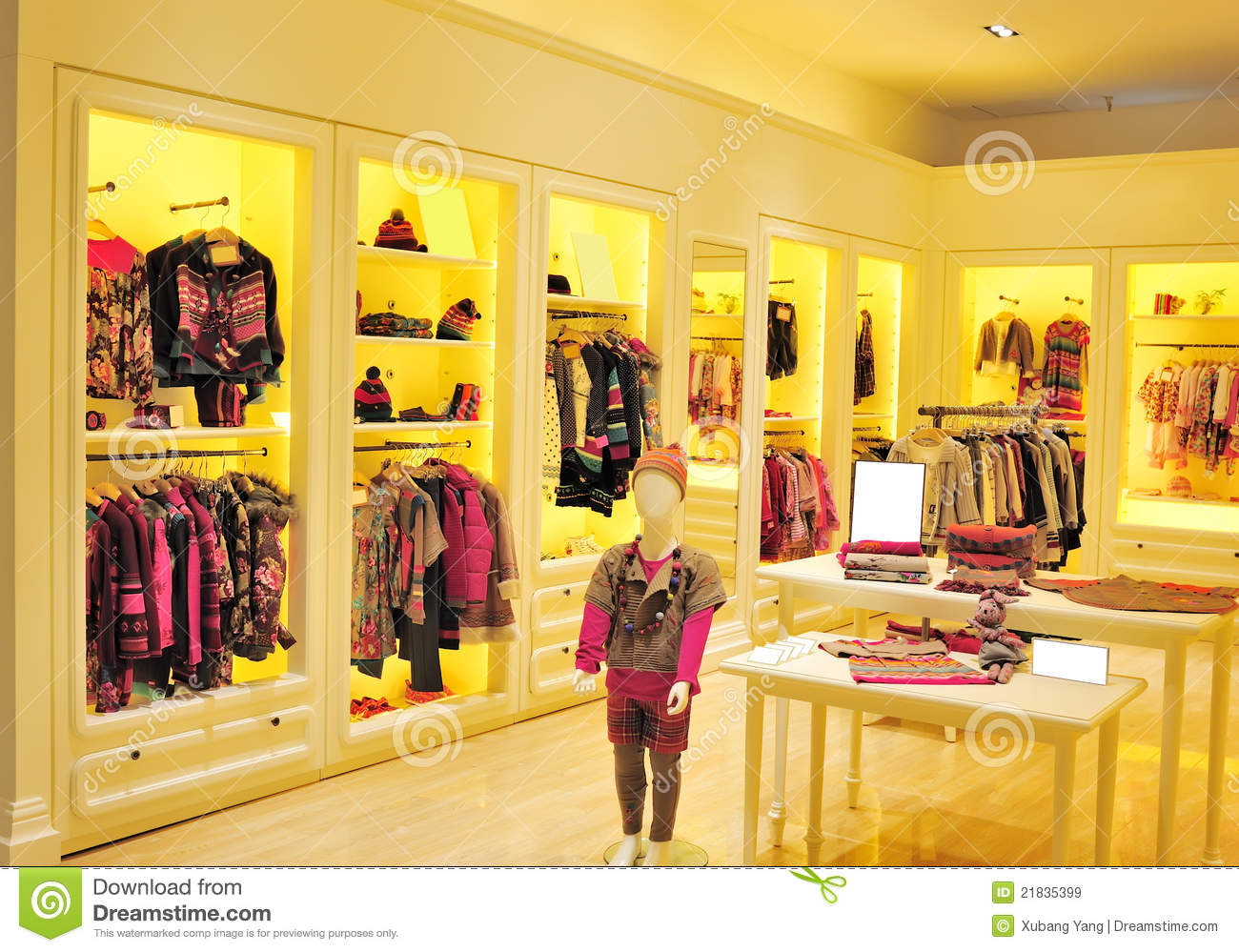Royalty free stock images children s fashion clothing store