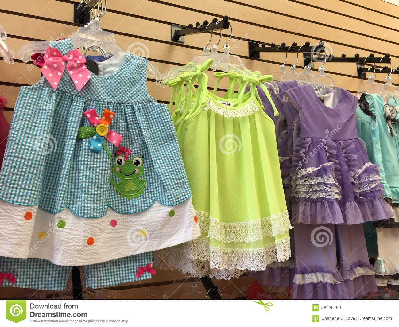 Girls Store Display Of Play Clothes Stock Photo - Image: 56936759