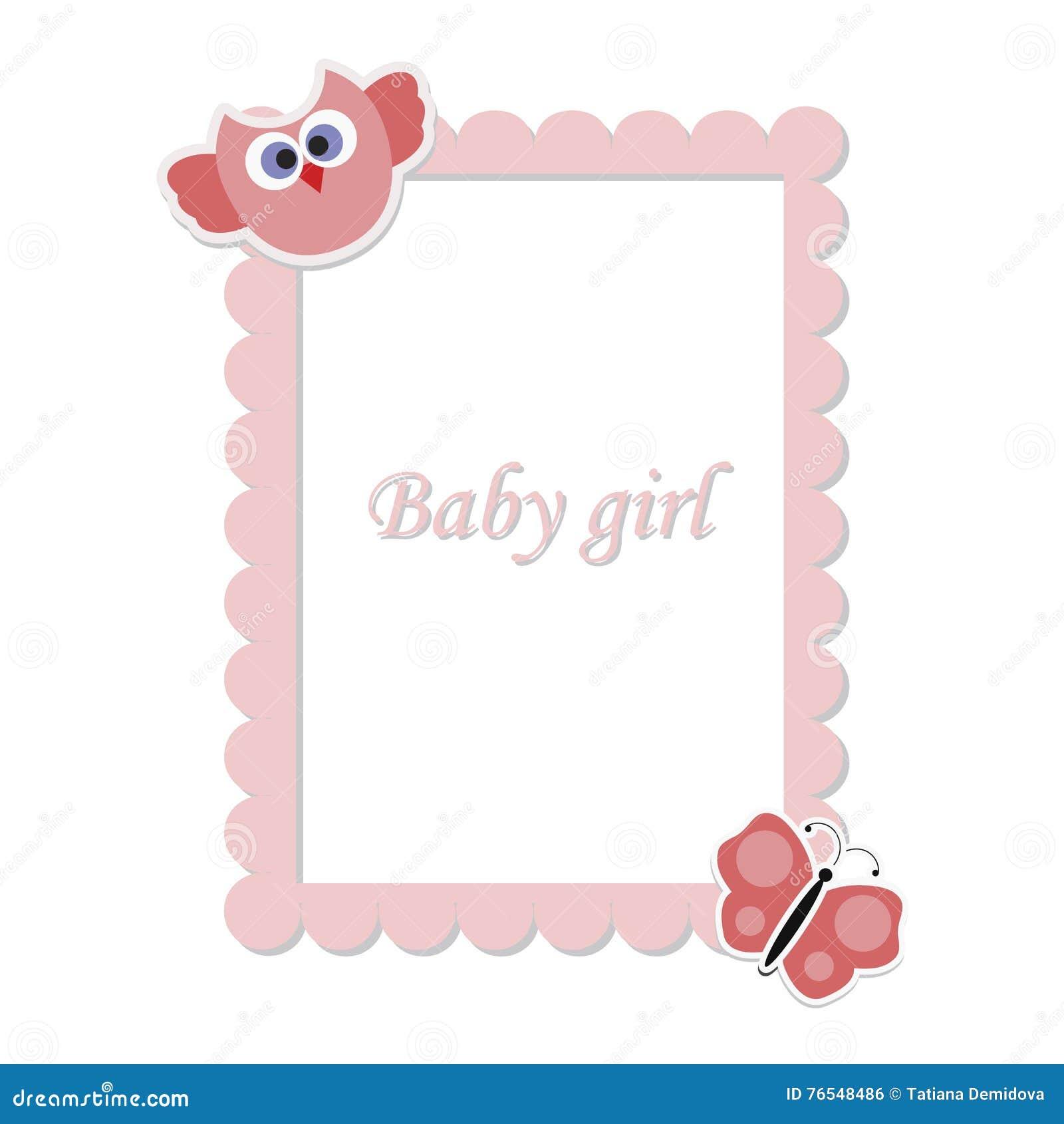 Children\'s Frame For Girls Stock Vector - Illustration of children ...