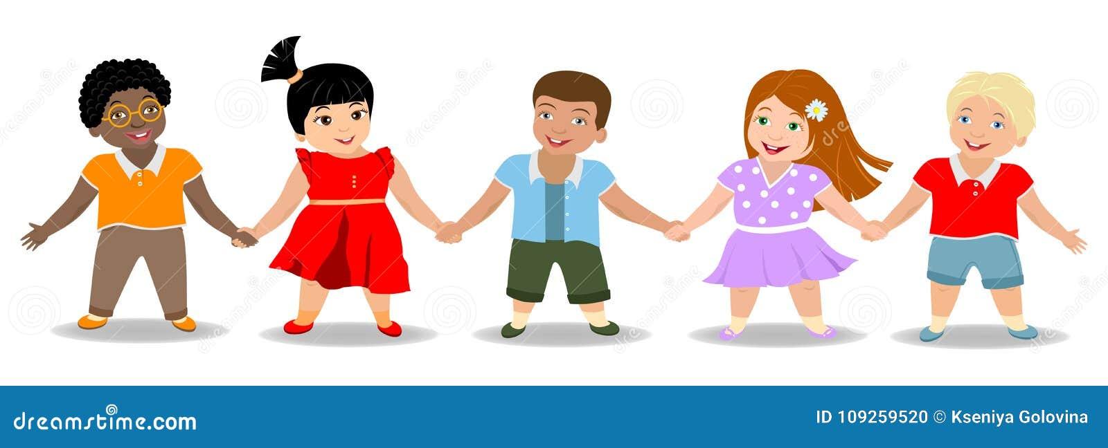 Children`s Friendship, Boys And Girls Stock Vector ...