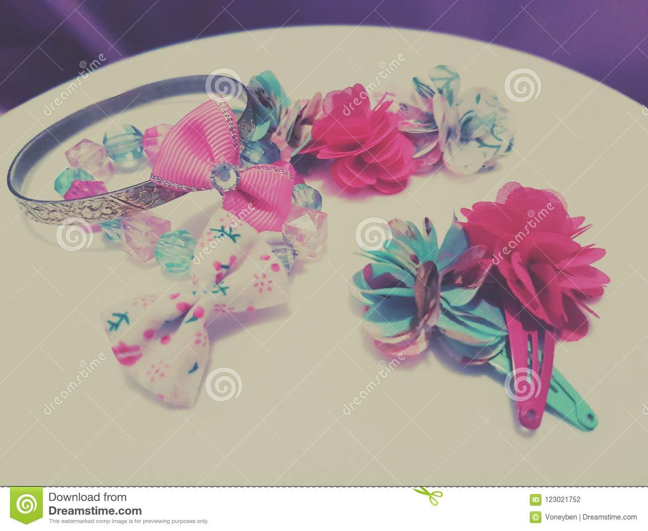 Hair accesories stock photo. Image of bracelets,