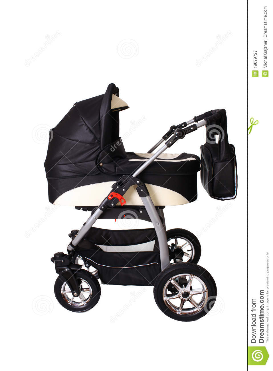 how to draw a pushchair