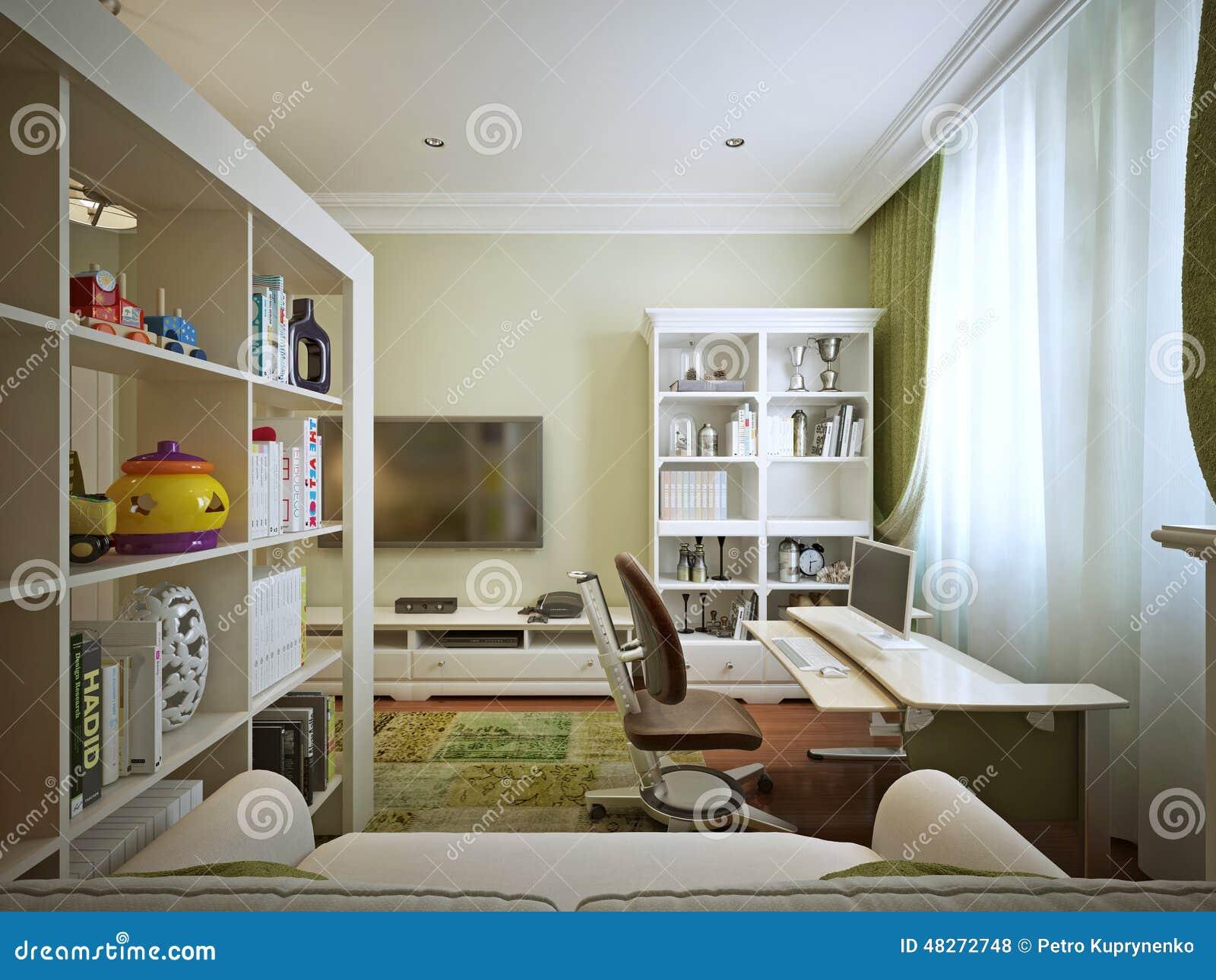 Children S Room For Boy Modern Style Stock Illustration