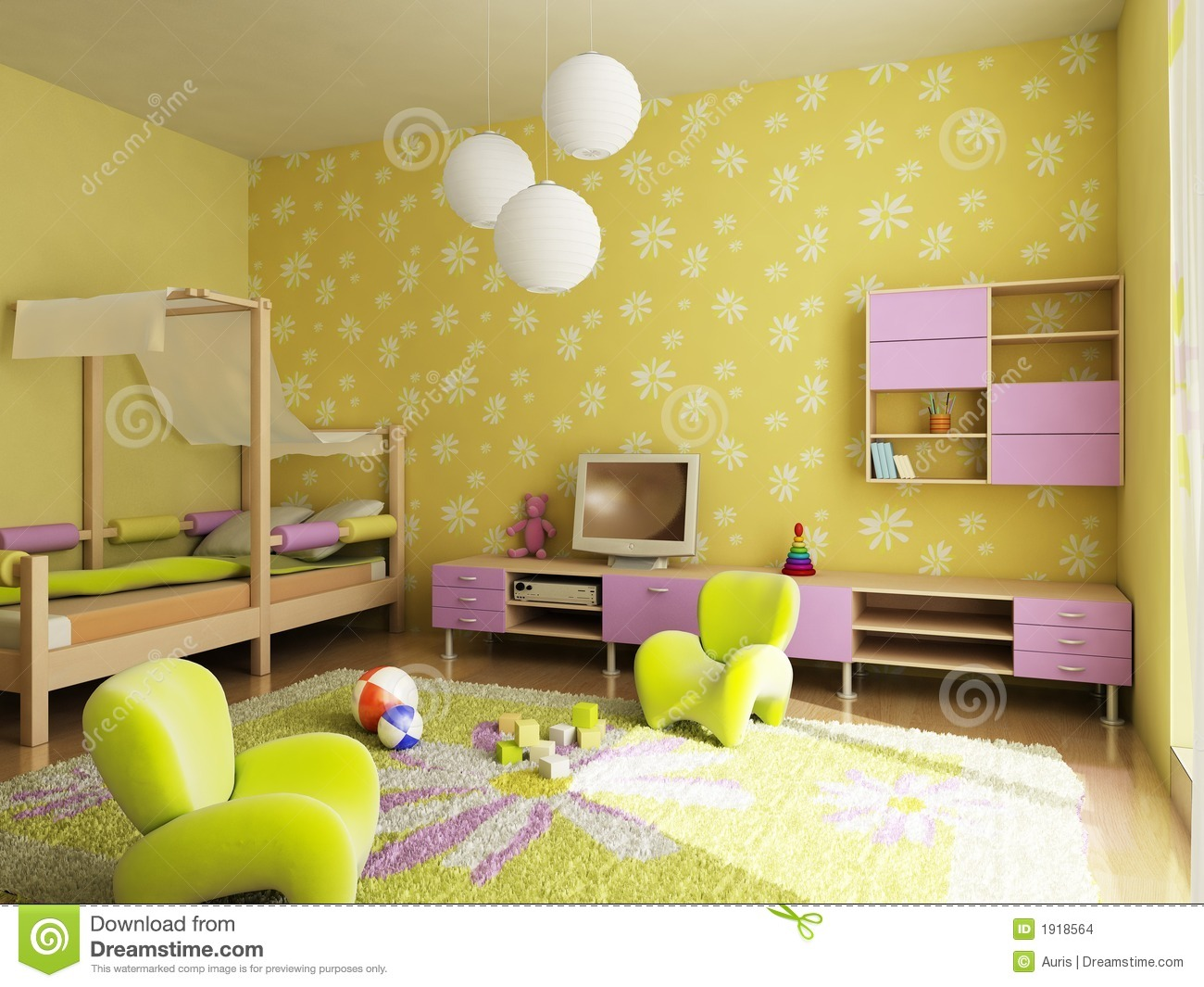 children's room stock photography - image: 2812082