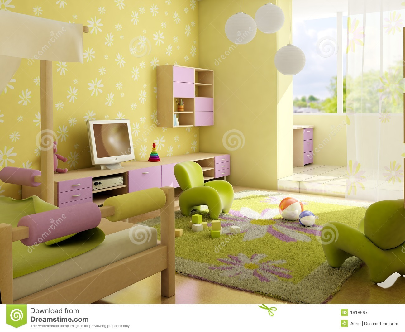 Children 39 S Room Interior Royalty Free Stock Photography Image 1918567