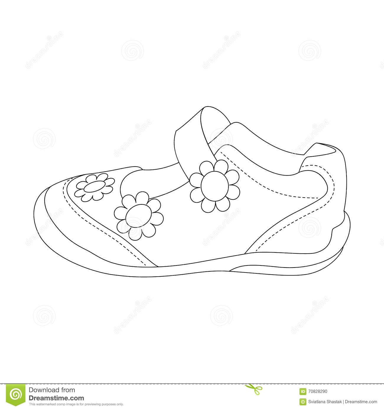 5bce643bf98cc Children's Sandals For Girls. Stock Vector - Illustration of leather ...