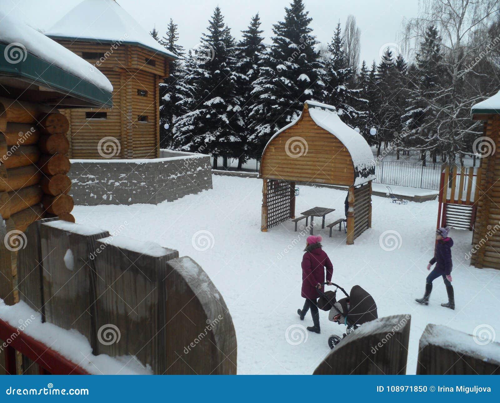 Children& x27; s speelplaats in het park