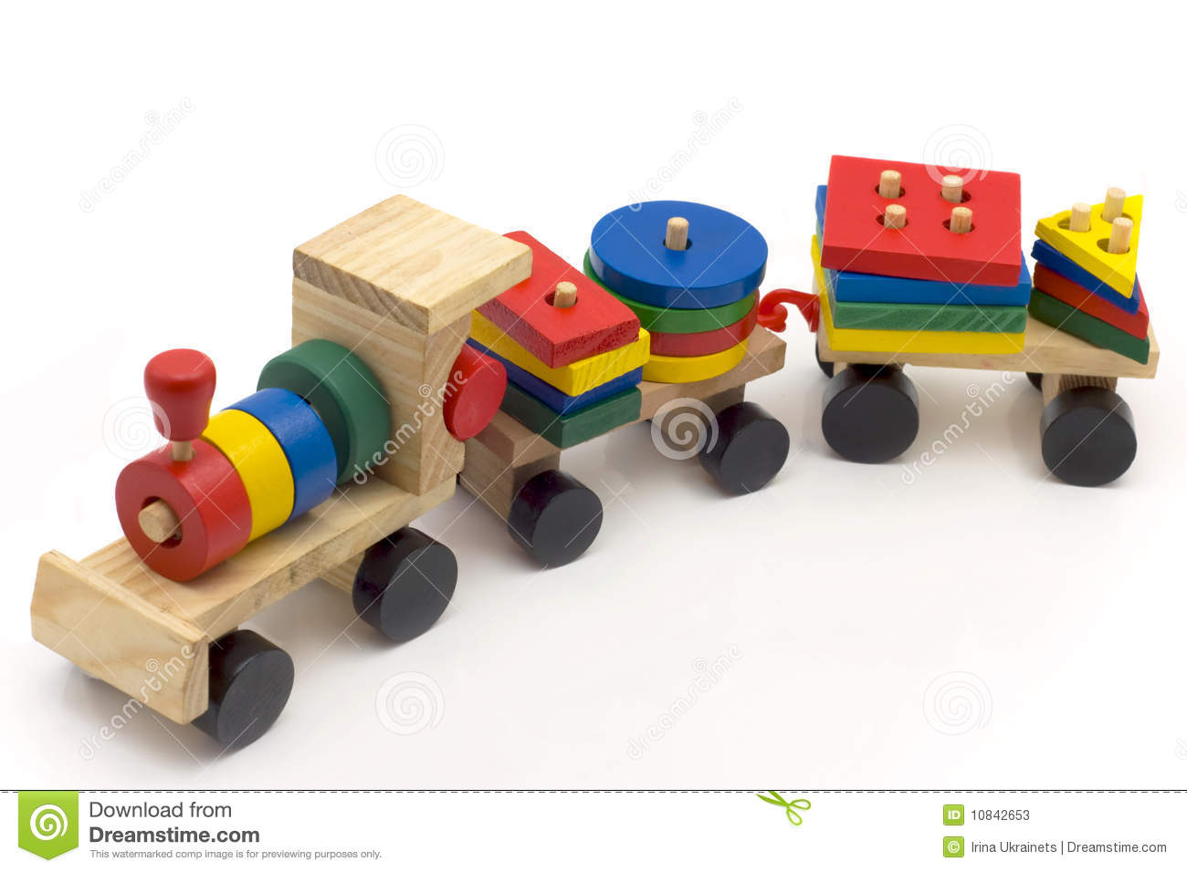Children's toy train stock image. Image of vehicle, play ...