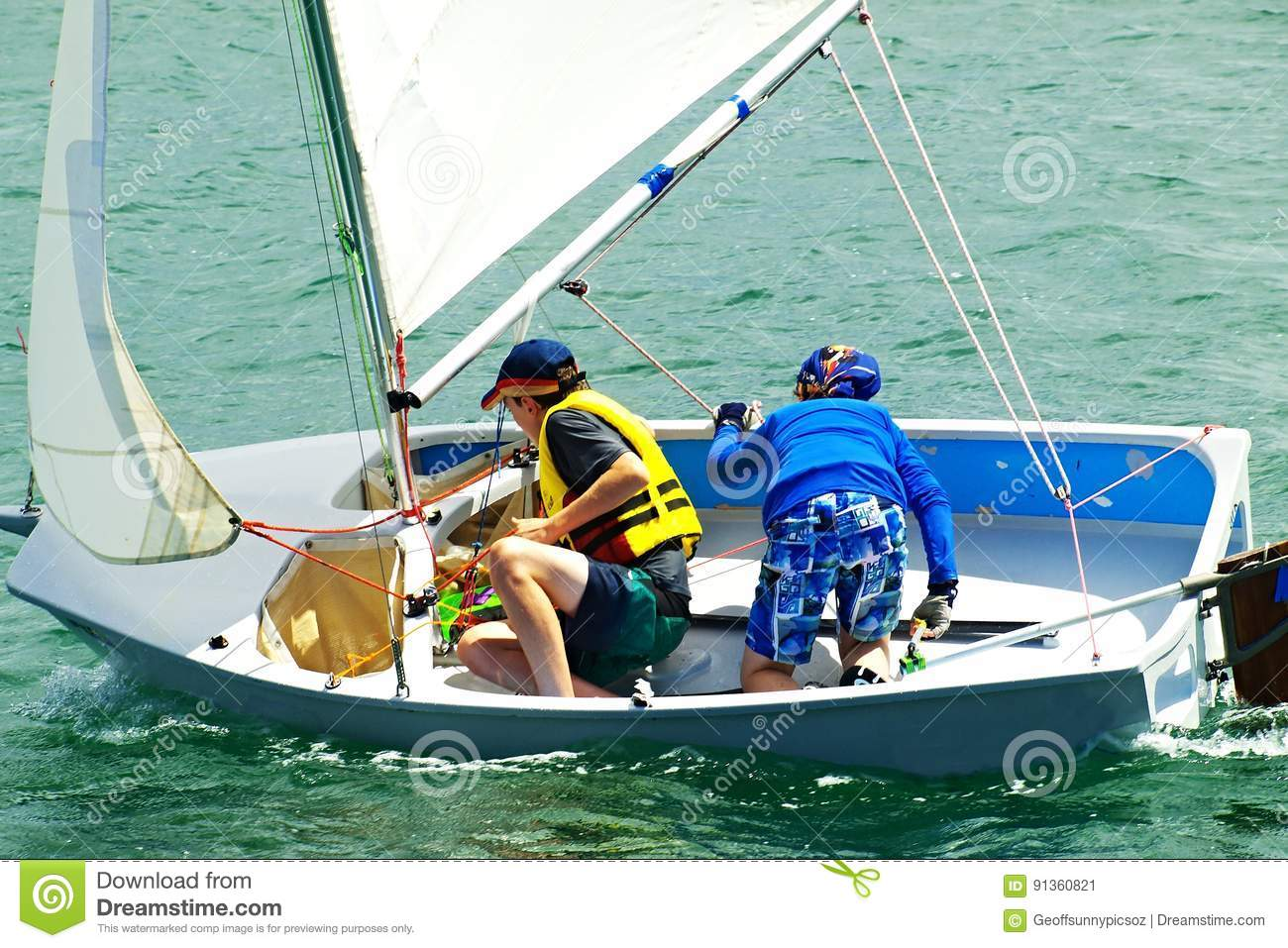 Children sailing boat pictures