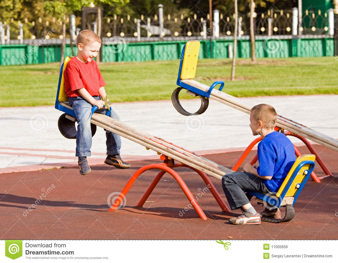 Children on a seesaw royalty free stock image image for Seesaw plans designs