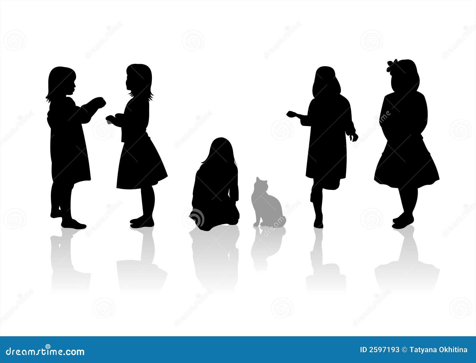 Children silhouettes 9