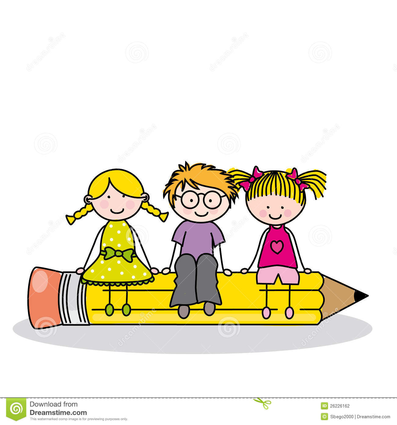 Children Sitting On A Pencil Stock Photography - Image ... School Desk Background