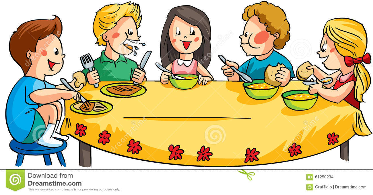 Children Sitting At The Table In Corect/incorect Postures ...