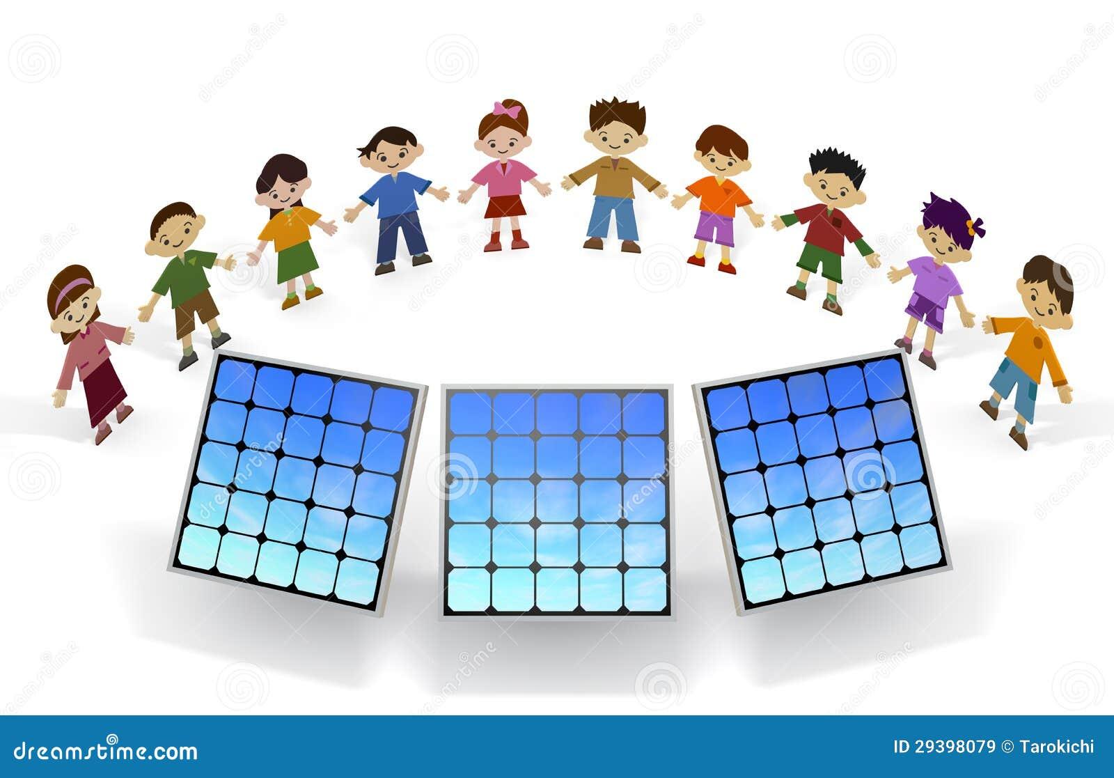Children solar panels royalty free stock images image for Solar panels information for kids