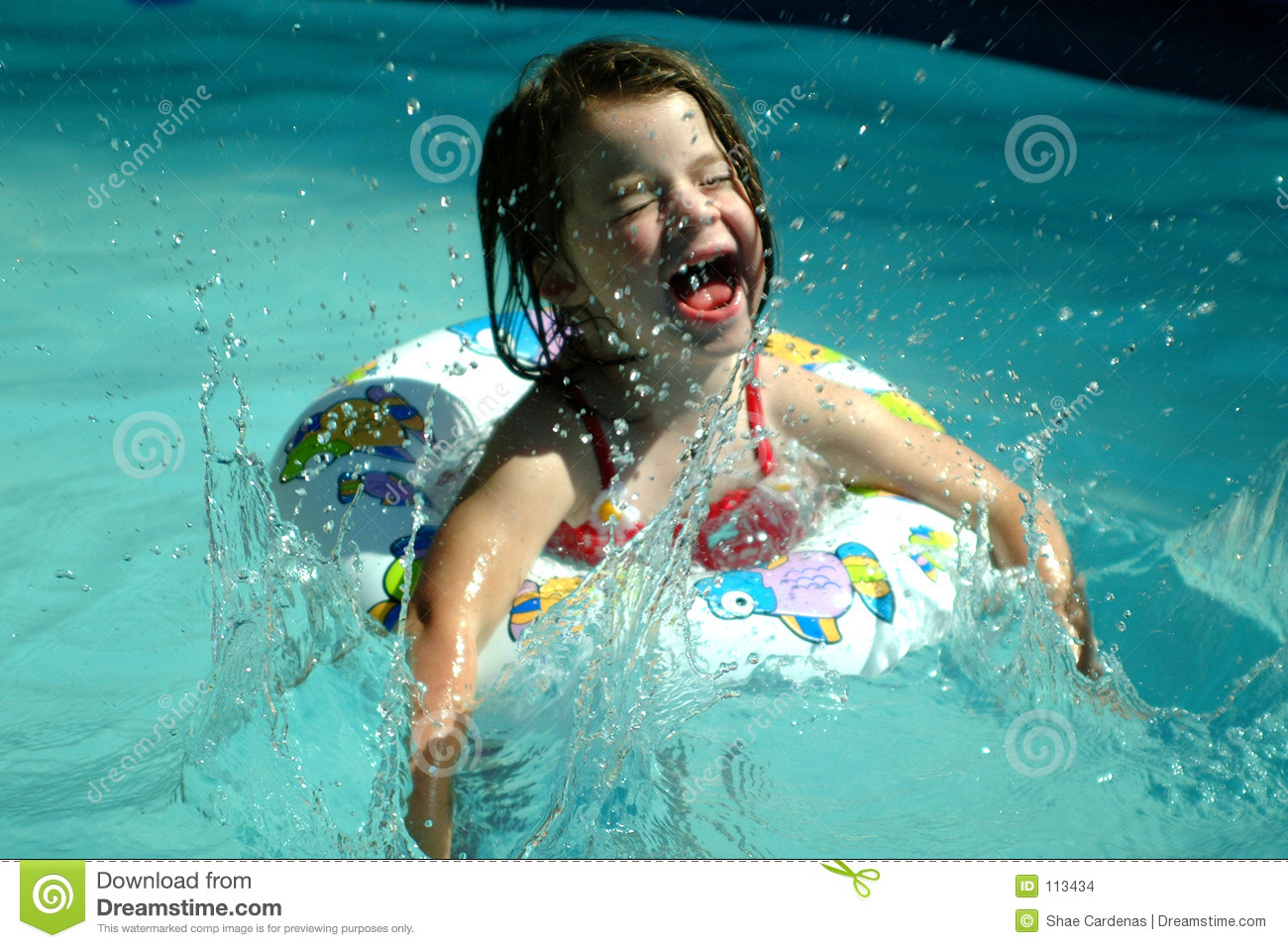 Children- Splashing Girl