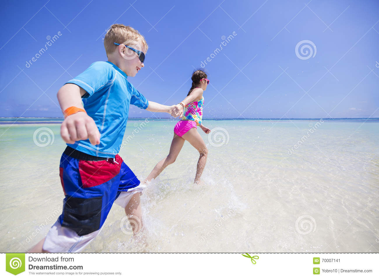 children splashing in the ocean on a tropical beach Holding Hands Drawing Holding Hands Outline