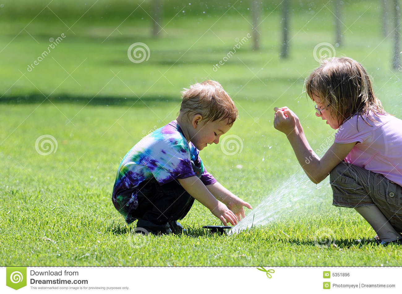 Children with Sprinkler