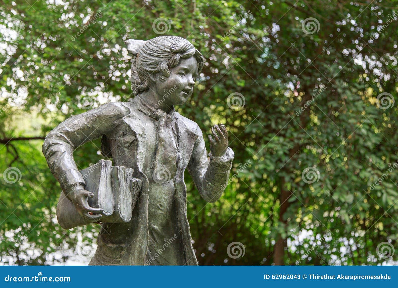 Children Statue At Garden