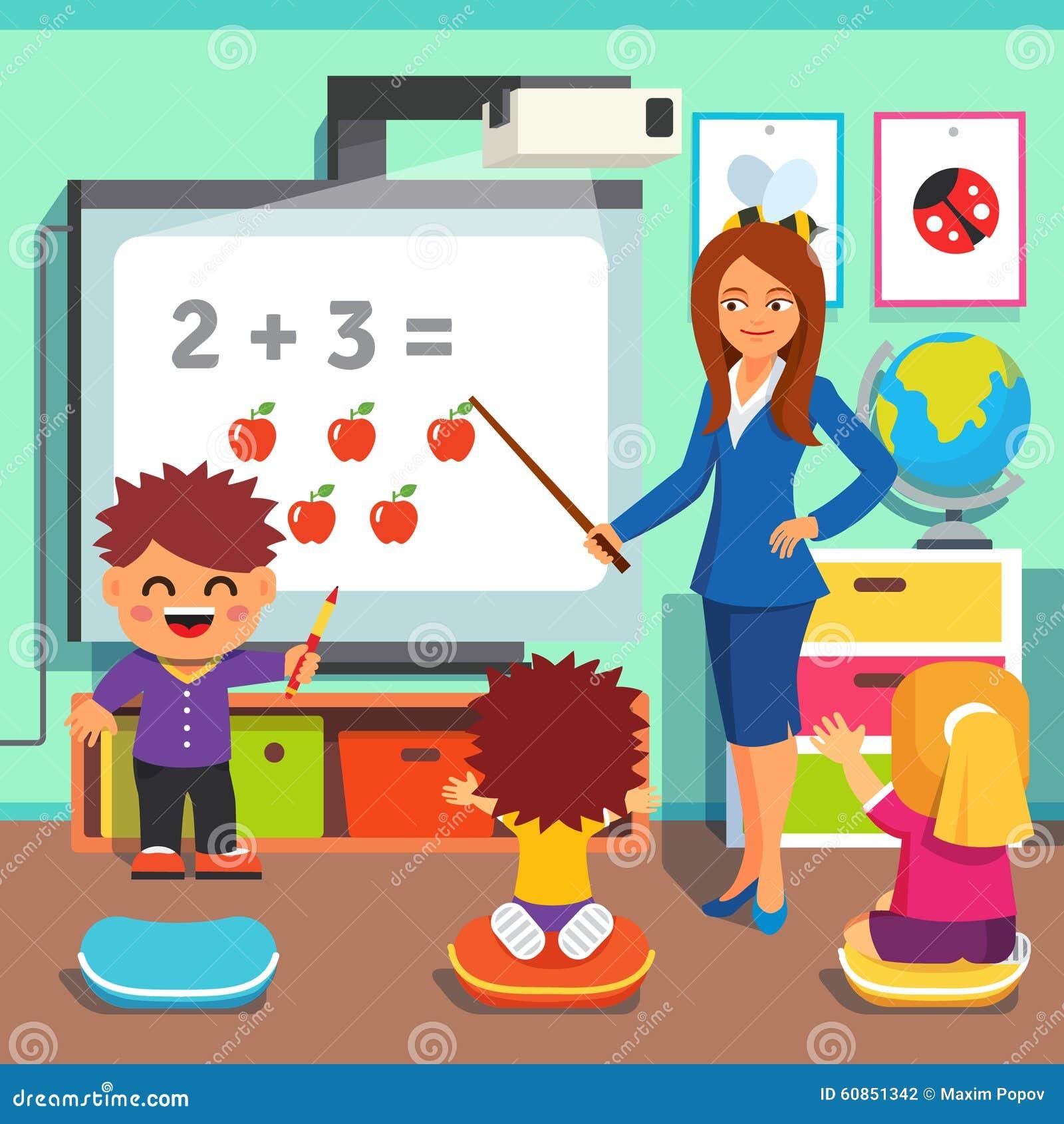 Children Studying In Classroom Stock Vector Image 60851342