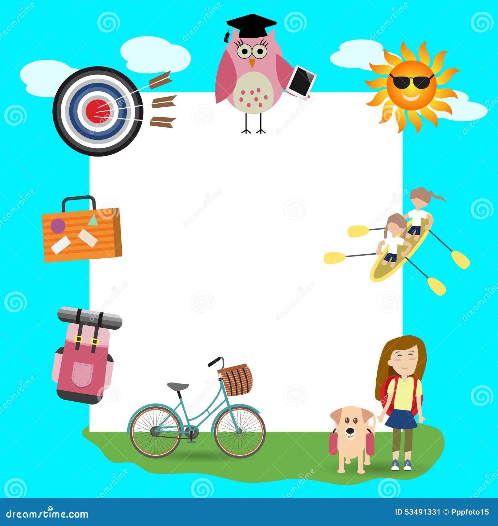 Children In The Summer Camp Background Illustration 53491331