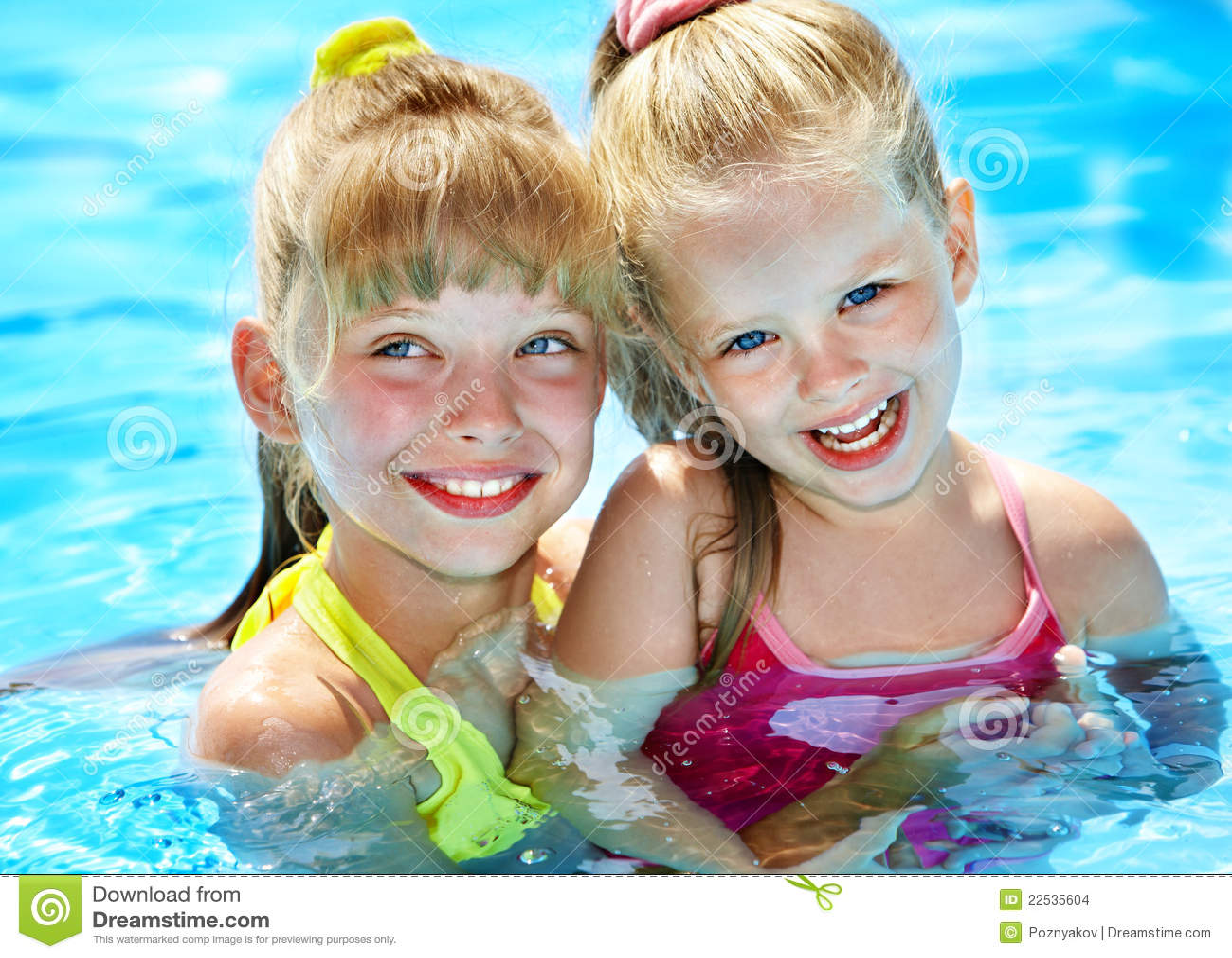 Children in swimming pool stock photo image of child 22535604 for How many children die in swimming pools