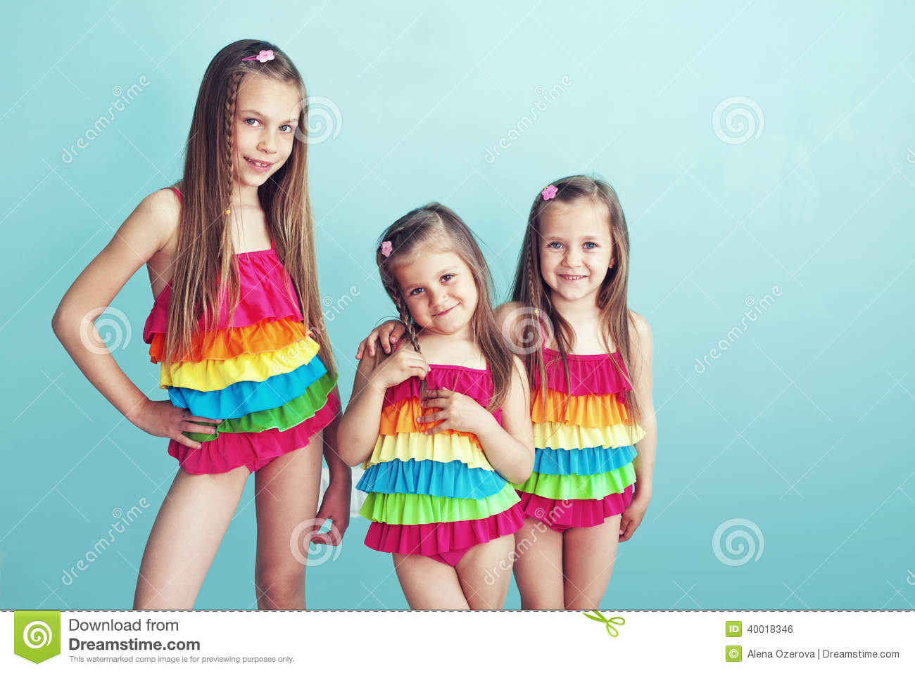 children in swimwear stock photo   image 40018346