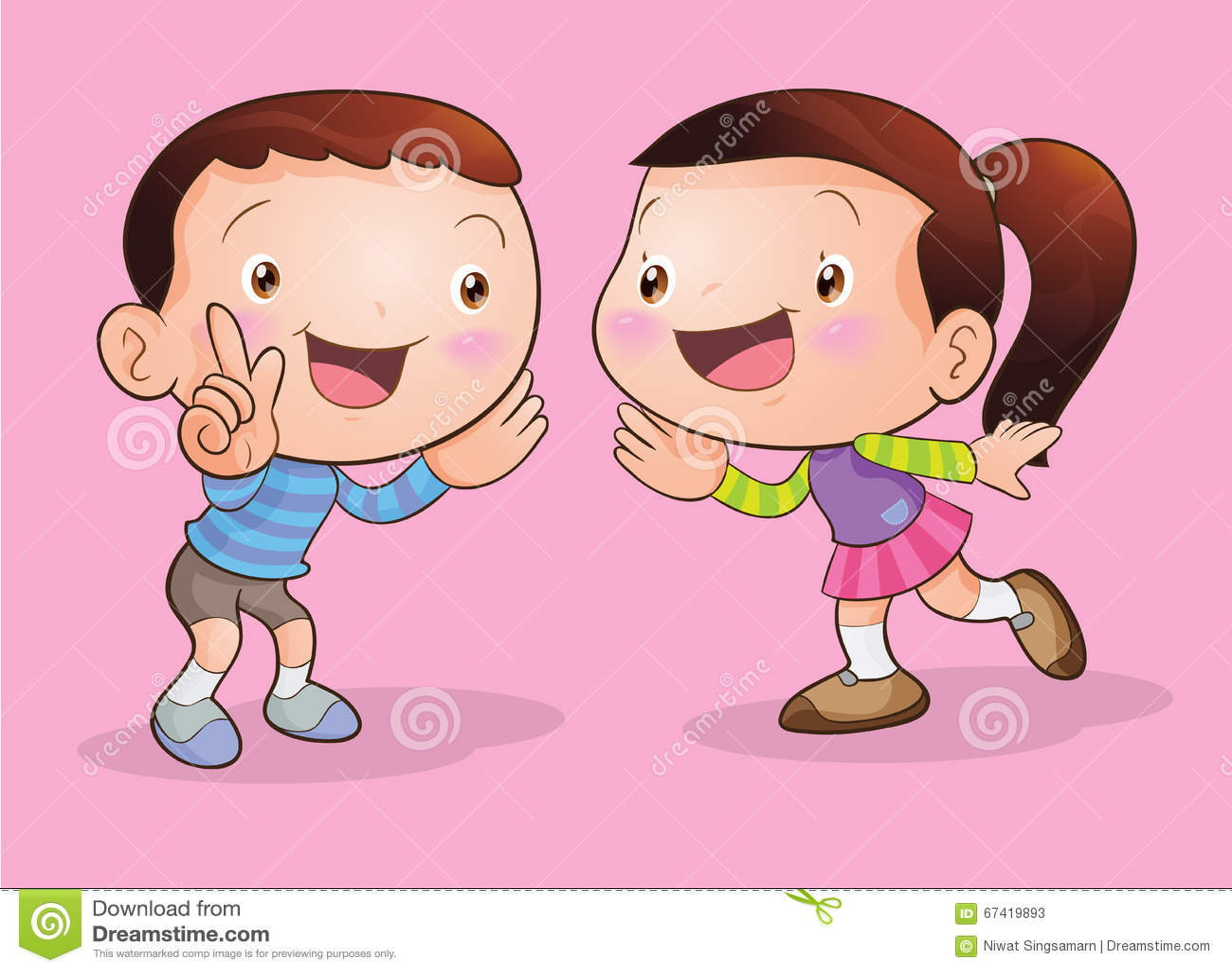 children talk and listening stock vector   image 67419893
