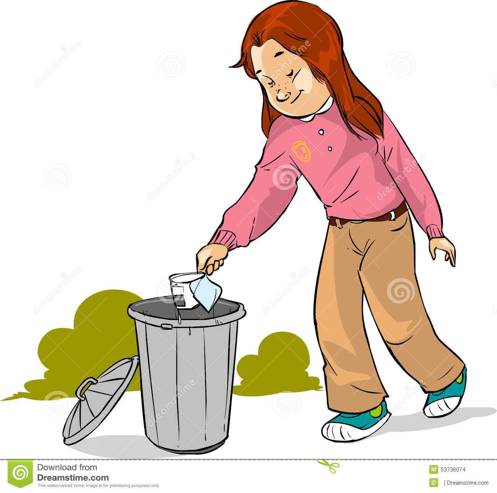 Sketch Floor Plans The Children Throw Garbage Stock Illustration