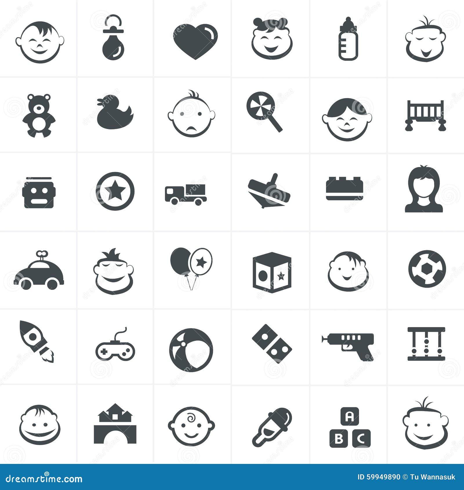 children and toy icons set stock illustration illustration of