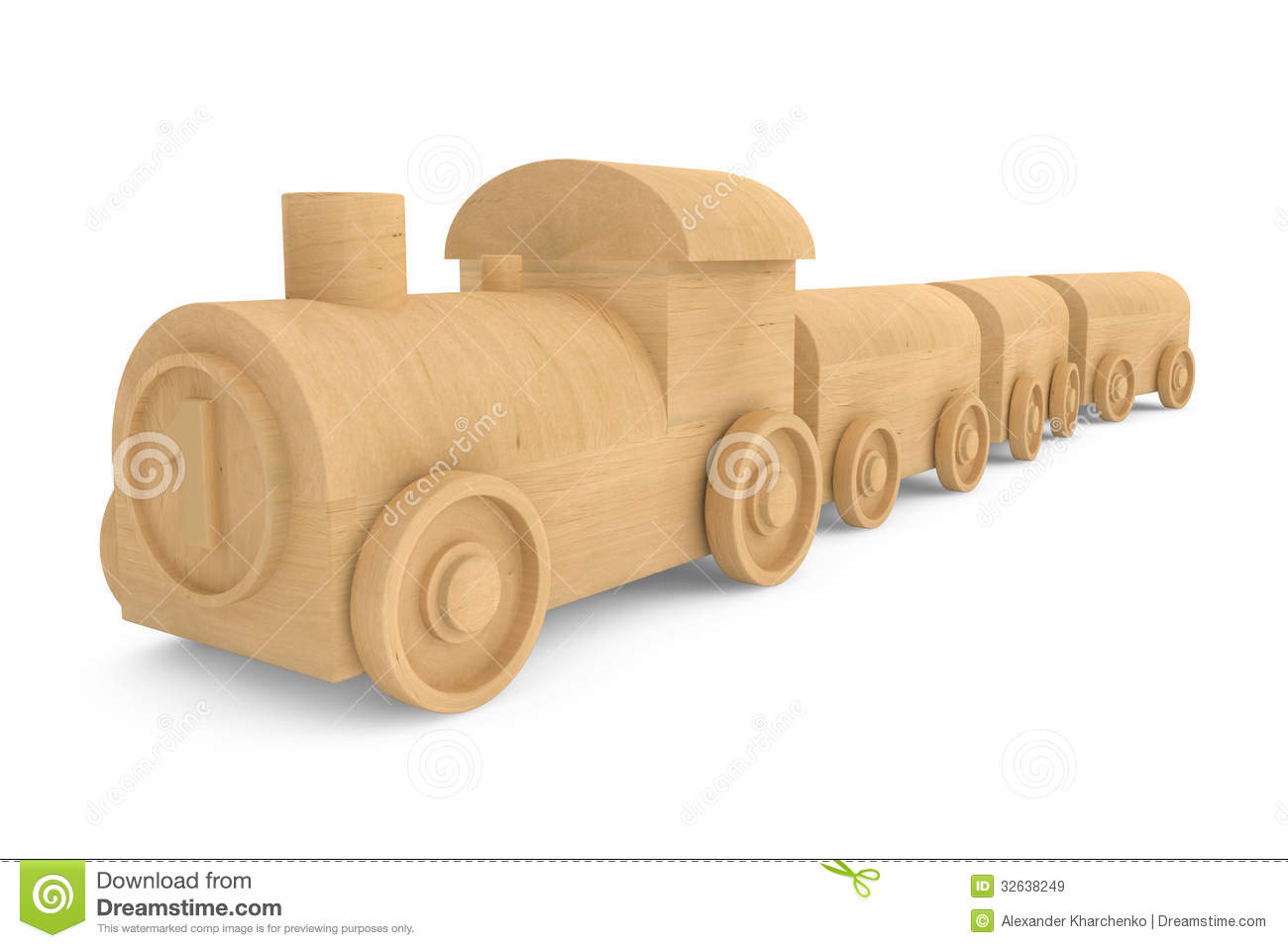 Royalty Free Stock Images: Children toy wooden train