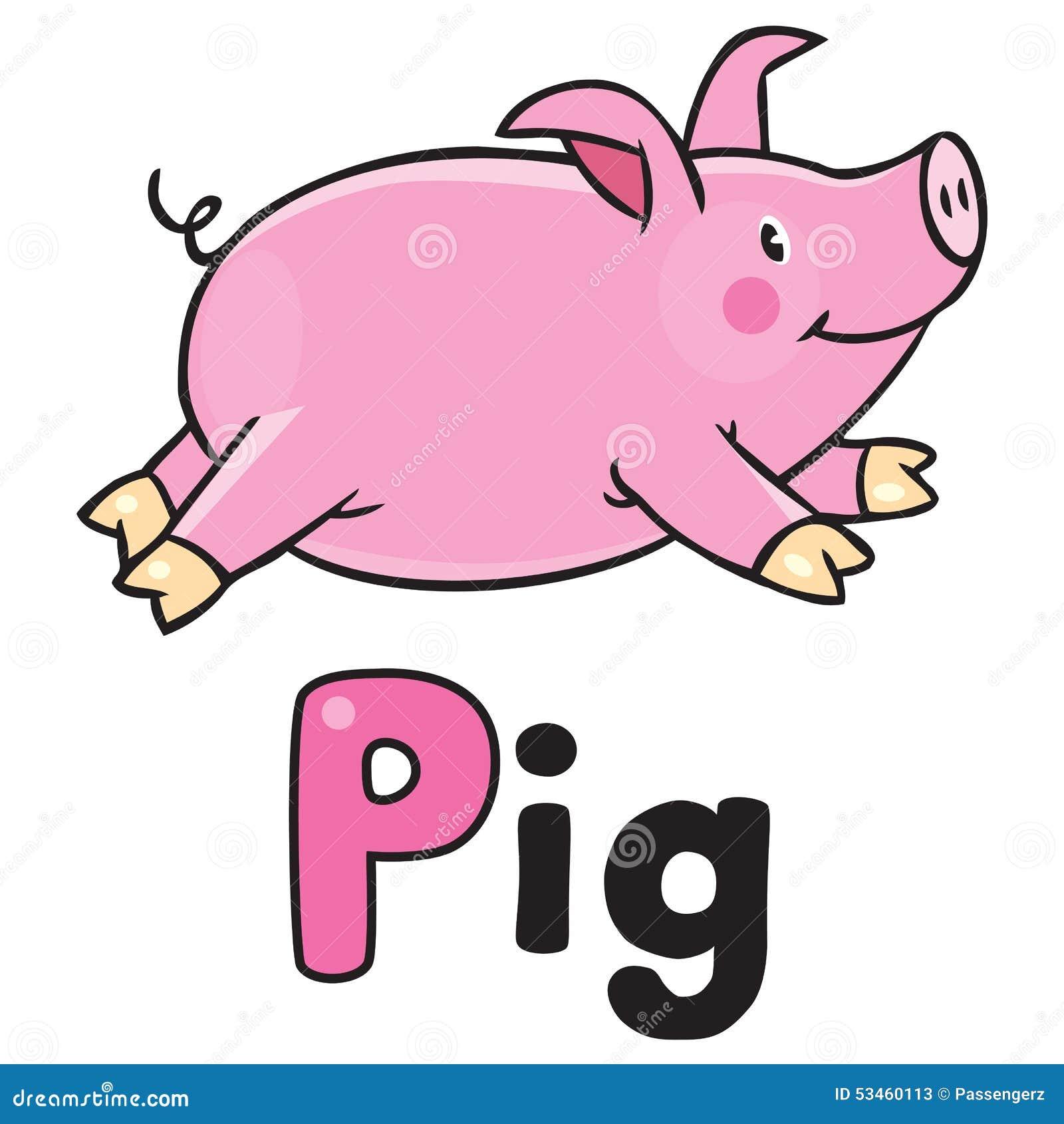 Children Vector Illustration Of Little Pig Stock Vector ...