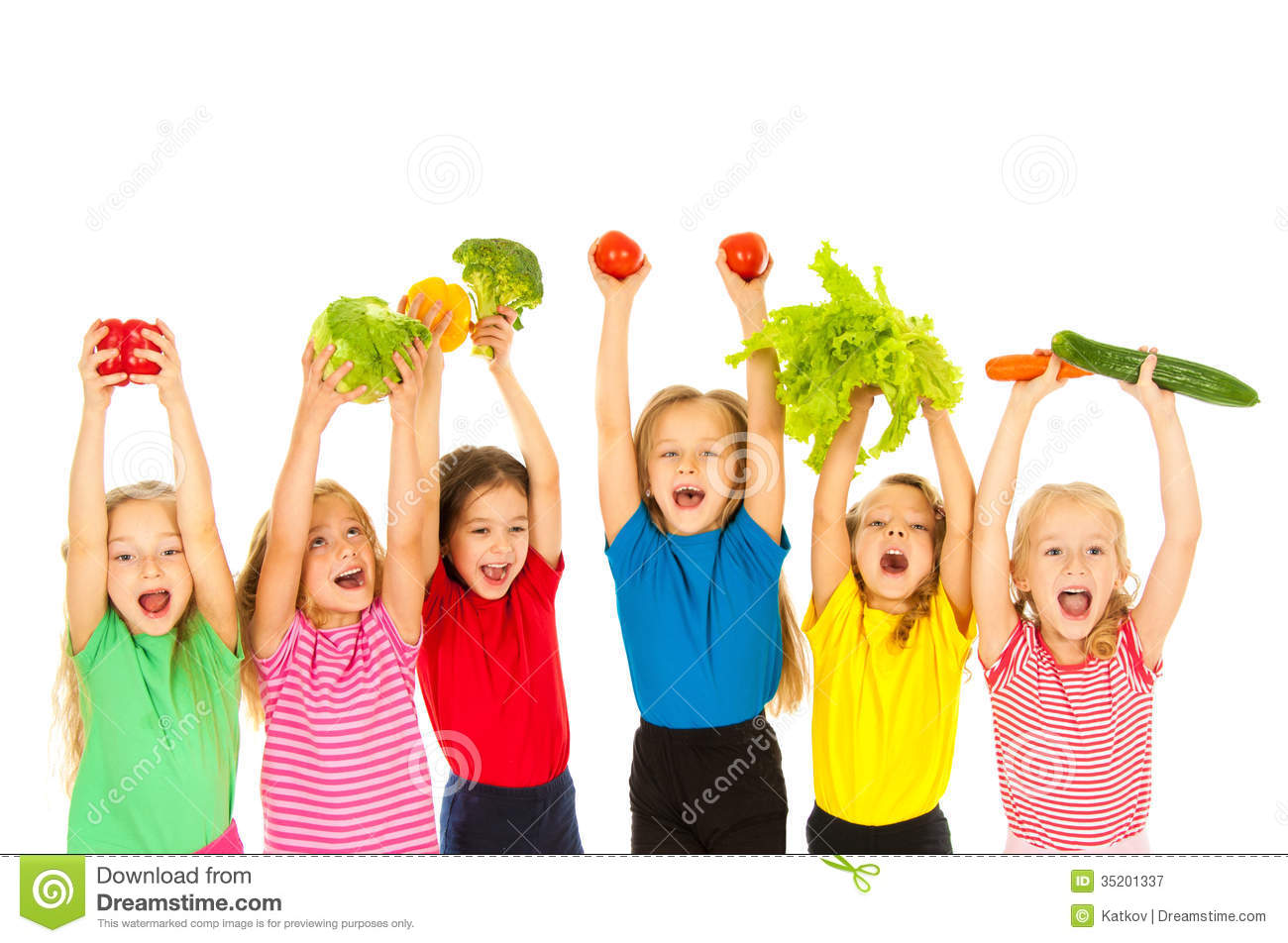 Children With Vegetables Royalty Free Stock Photography - Image ...