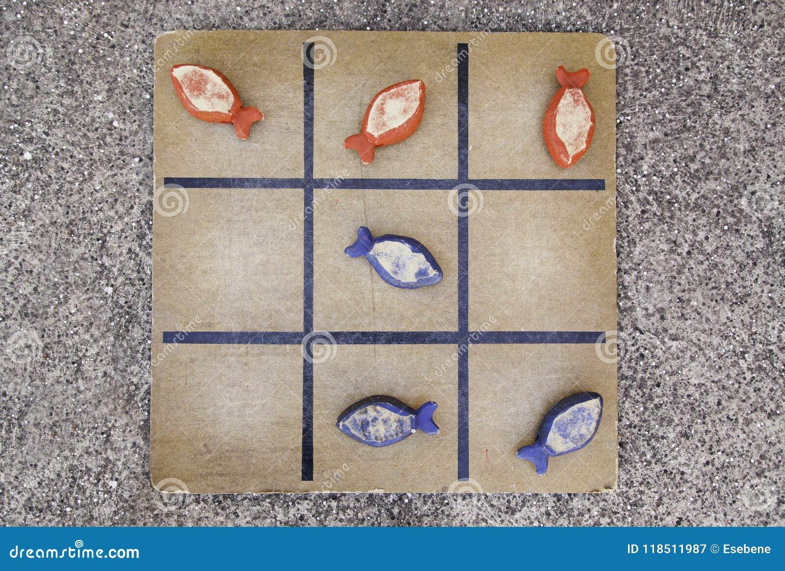 Children& velho x27; jogo de s de peixes de madeira