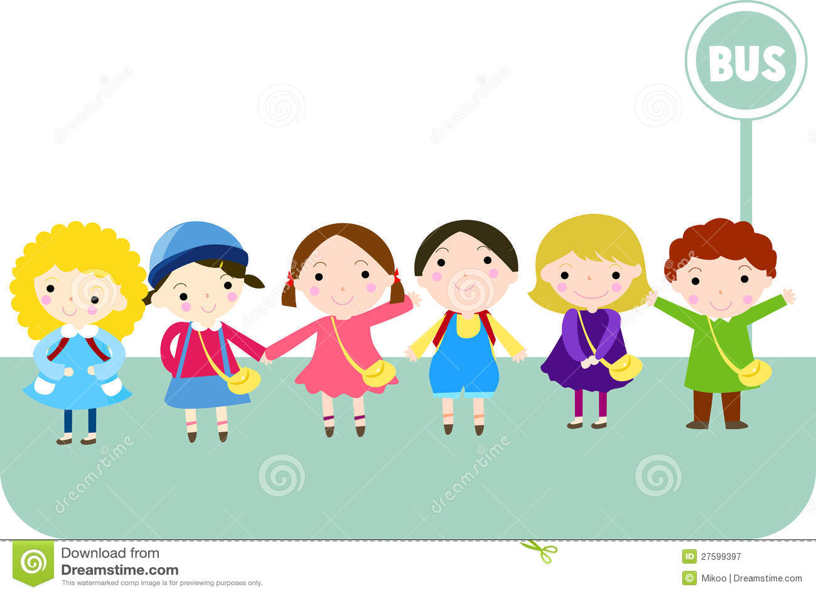 Children Waiting Bus Stock Illustrations – 77 Children ...