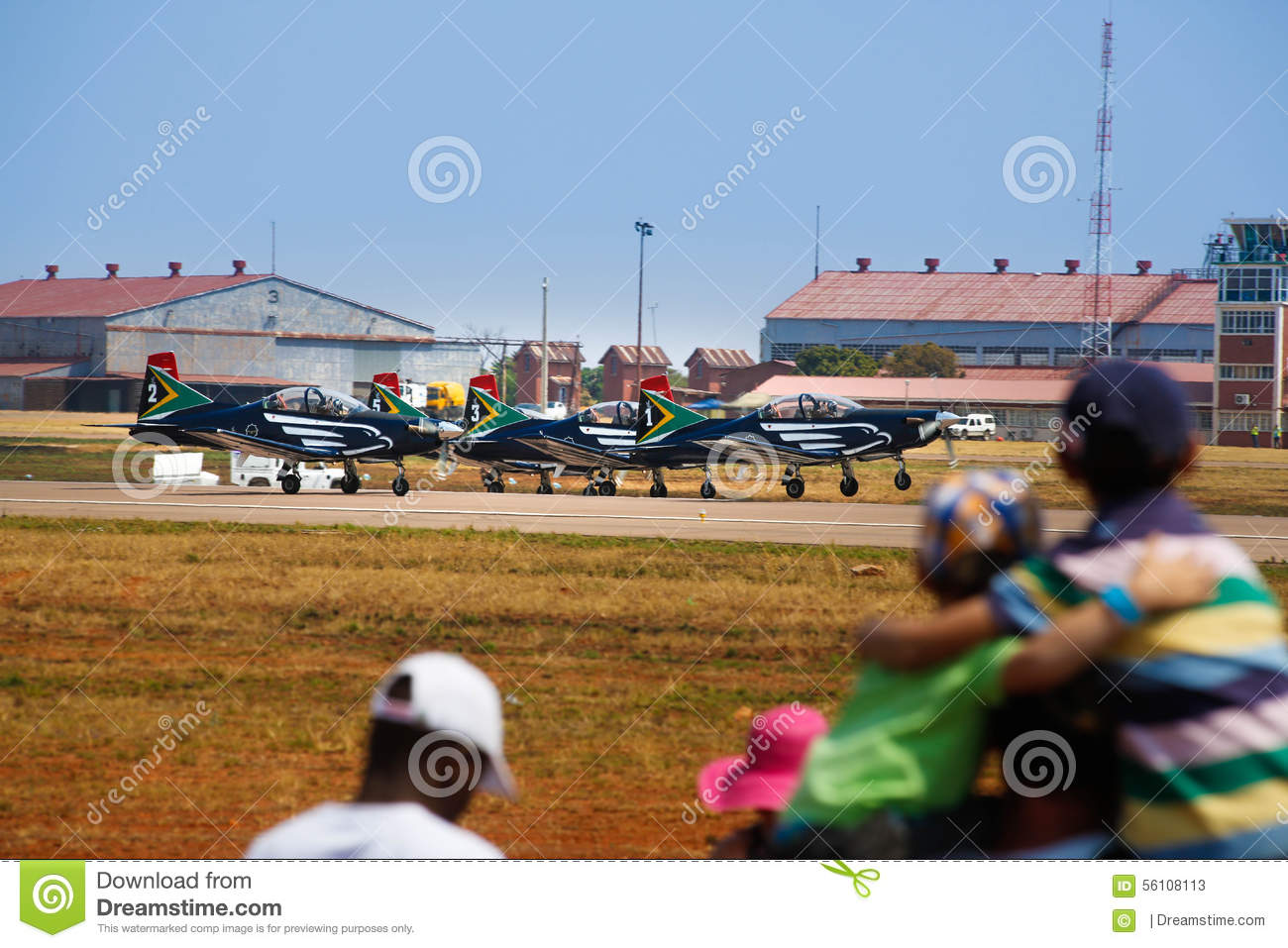 Children Watch Planes At Air Show Stock Image - Image of ...