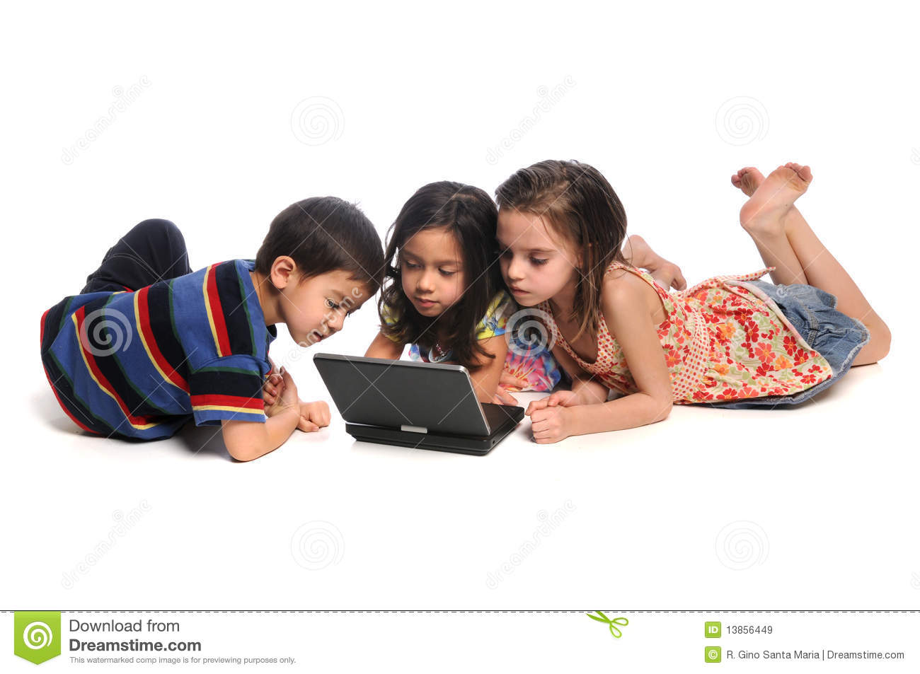 Children Watching Movie On DVD Player Stock Image - Image ...