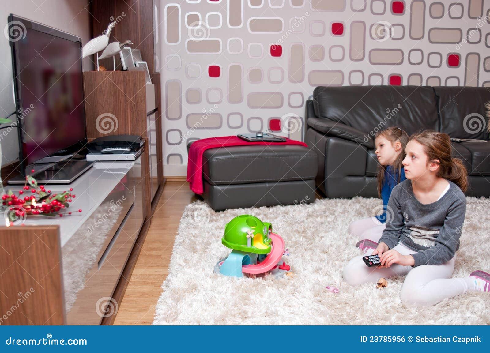 Children Watching Tv Royalty Free Stock Image Image