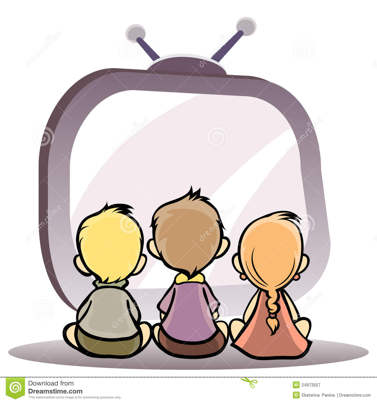 clipart boy watching tv - photo #47