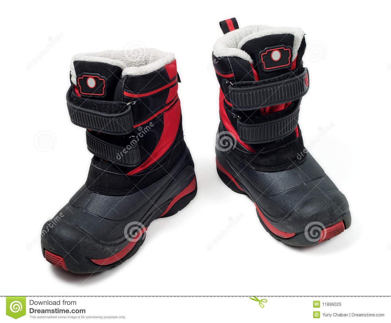 Children Waterproof Winter Boots Stock Image