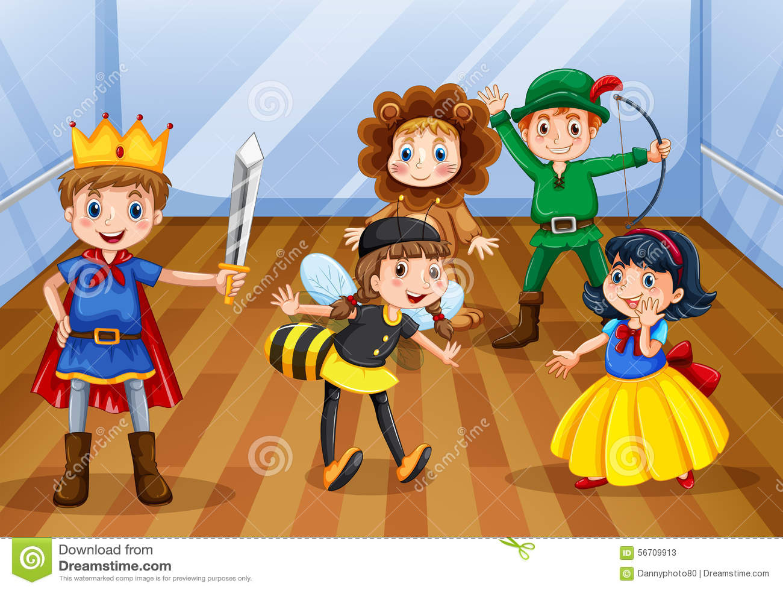 Children Stock Vector Image Of Design Acting Backdrop
