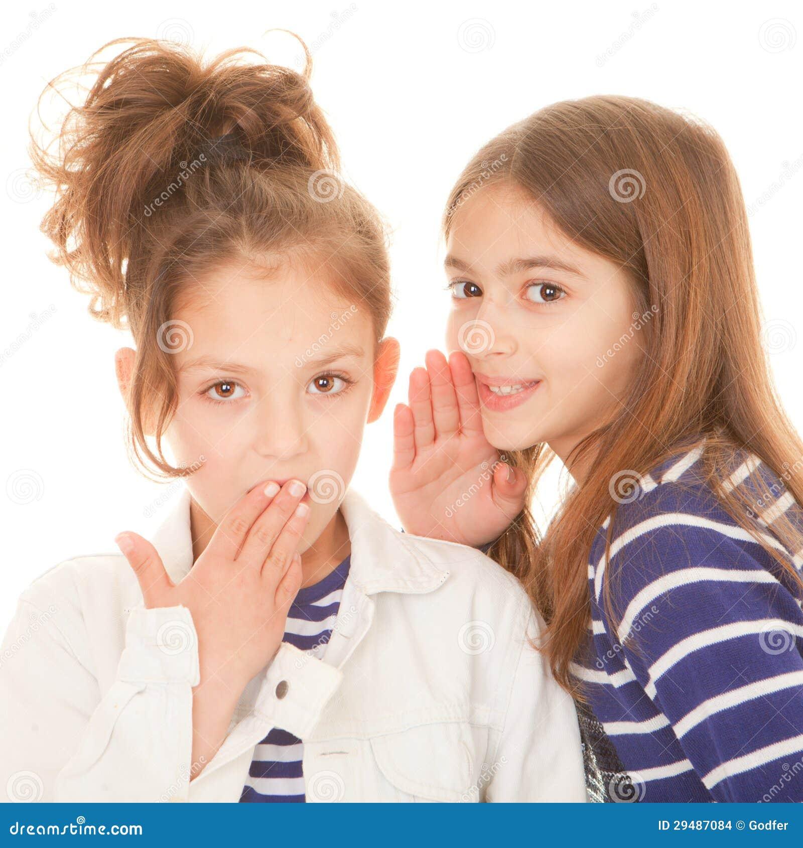 Children Whispering Secrets Stock Images Image 29487084