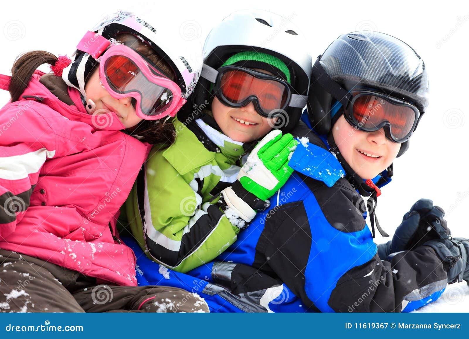 Children in winter gear