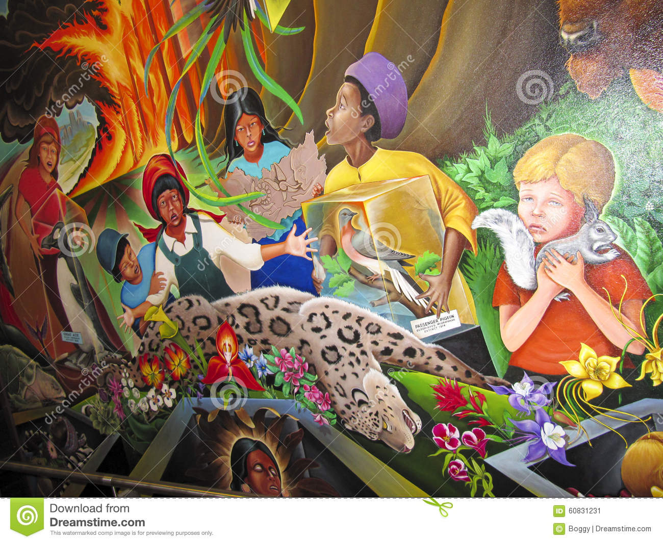 Children of the world dream of peace editorial photo for Dia mural artist