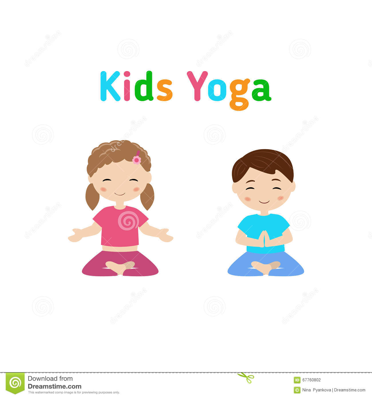 Download Children Yoga Stock Vector Illustration Of Athletic