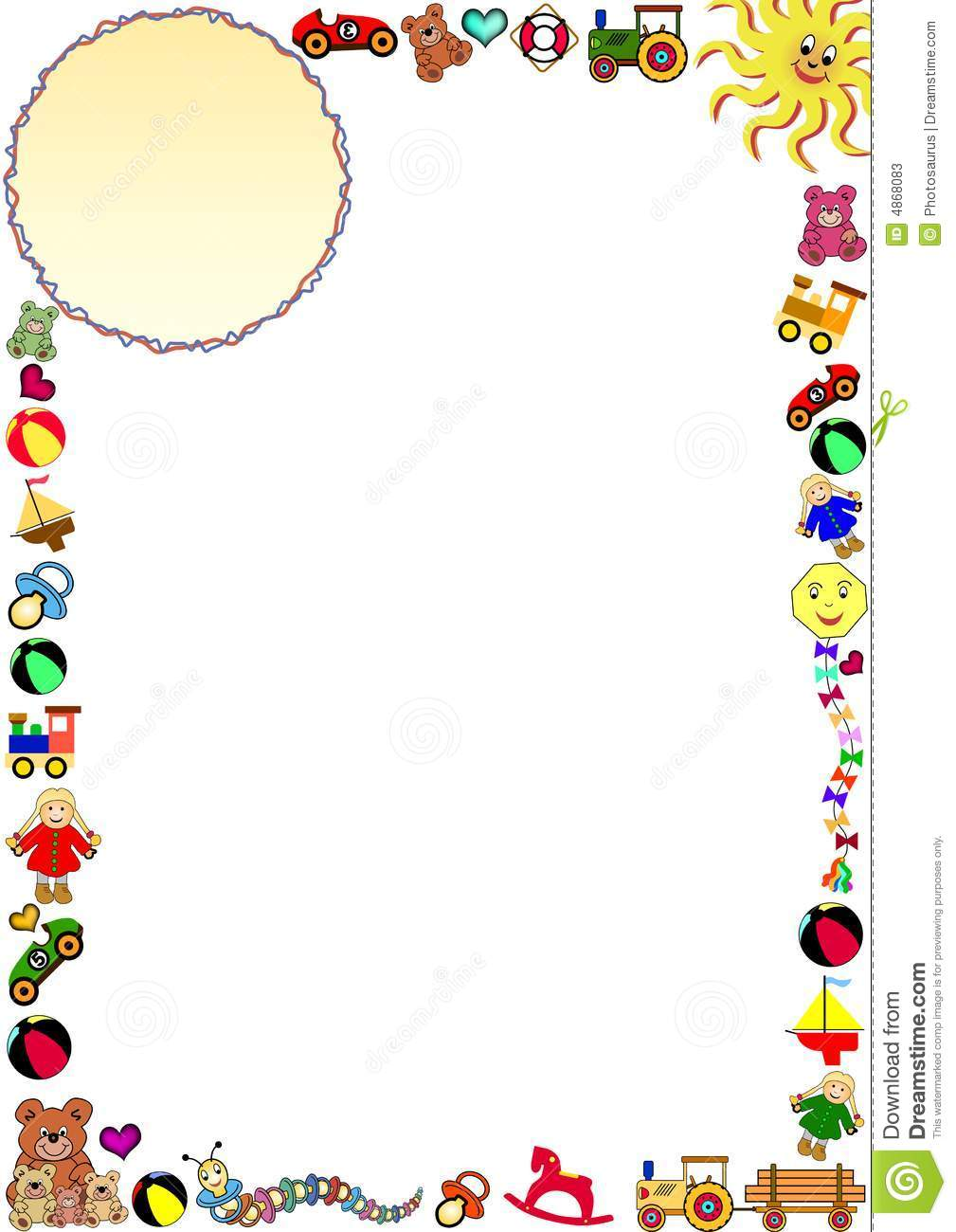 Childrens border stock vector. Illustration of family - 4868083