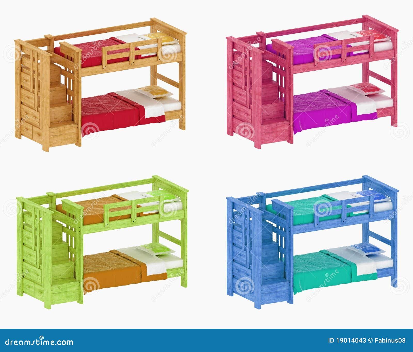 childrens bunk beds stock illustration image of green. Black Bedroom Furniture Sets. Home Design Ideas