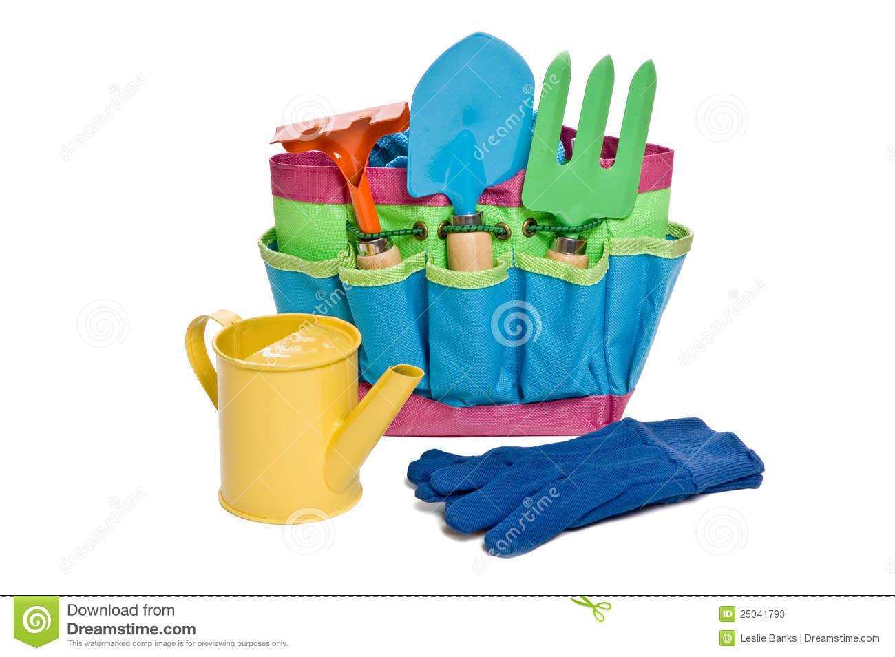 Childrens gardening tools stock photos image 25041793 for Childrens gardening tools