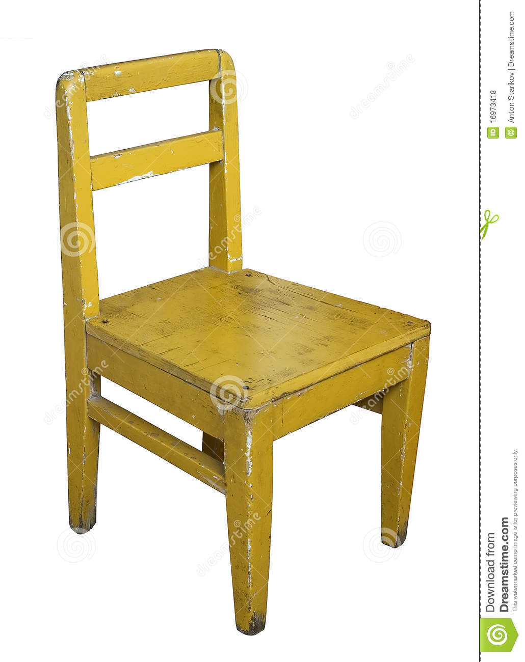 Childrens Old Painted Chair Royalty Free Stock Photos