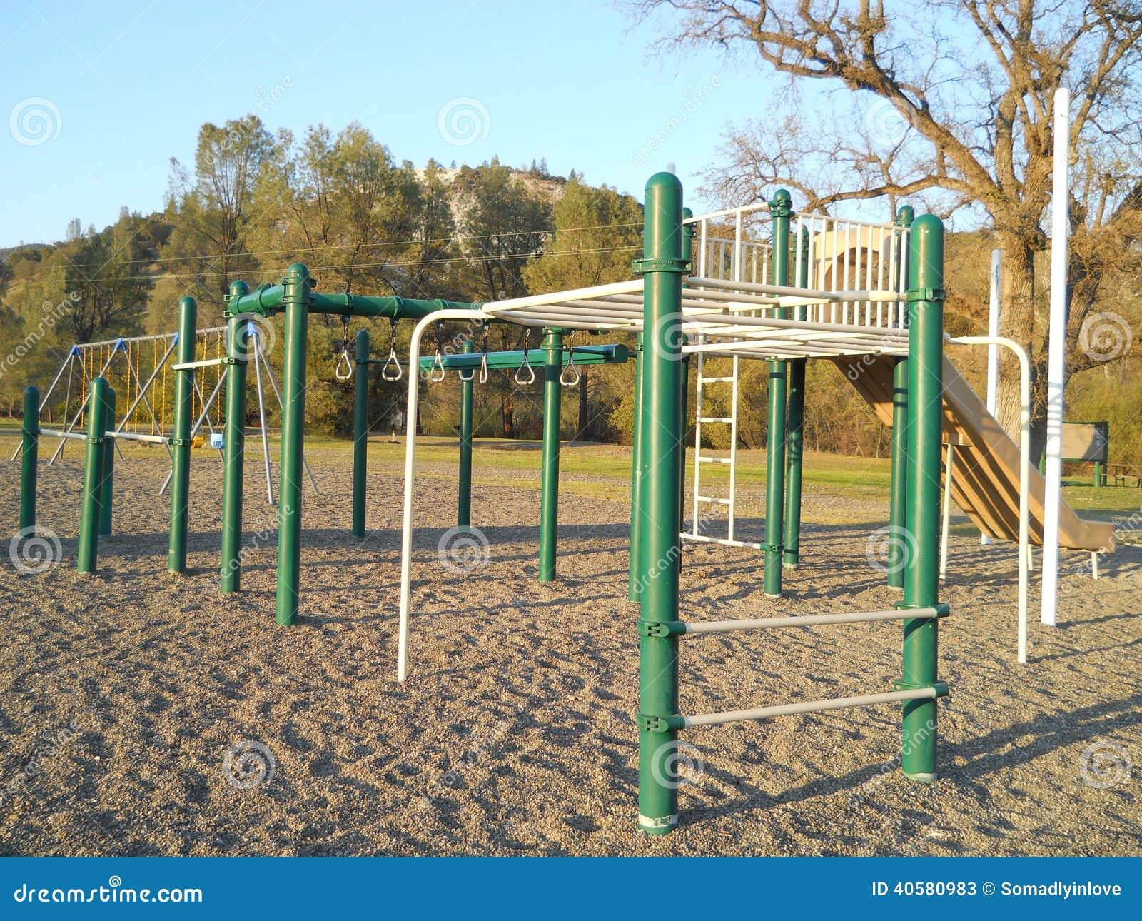 Childrens Playground Equipment Stock Image Image Of