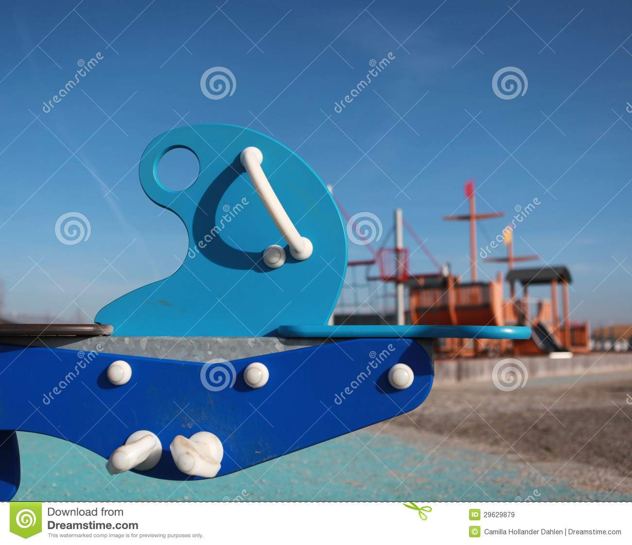 Childrens Playground Toy Stock Image Image Of Blue